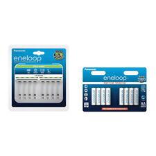 Panasonic 8 Zellen Ladegerät BQ-CC63 + 8er Blister AA Eneloop Akku BK-3MCCE/8BE