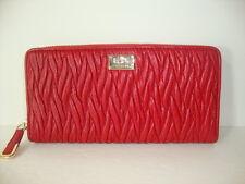 Coach Madison Twist Leather Accordion Zip Around Wallet F49609 IM Classic Red