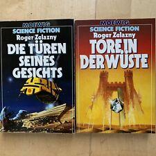 2x Roger Zelazny, Die Türen seines Gesichts  + Tore in der Wüste, Moewig SF