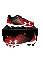 Under Armour Youth LeadOff Low Top Red Black Baseball Cleats 1297316-061 Size 6Y
