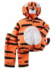 NEW Carter's Halloween Tiger Orange Black Plush Costume 12m NWT Boys Girls Set