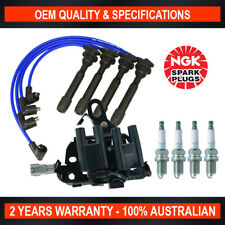 Ignition Coil, Spark Plug & Leads Pack for Hyundai i30 Tiburon Tucson 2.0L VVT