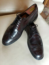 Barrie Ltd. Imperial Collection Shell Cordovan Wingtip Dress Shoes 11.5-12