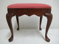 Pennsylvania House Cherry Queen Anne Foot Stool Vanity Seat