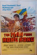The man from hong kong poster,original,1975,twentieth century-Fox