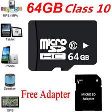 Micro SDHC Karte 64GB Speicherkarte Class 10 + SD Card Adapter UNIVERSAL