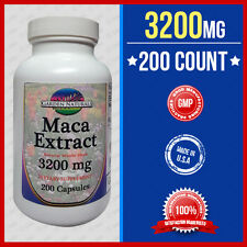 Maca 3200mg Per Serve Size Sexual Health Energy Herb Saponins 200Caps Made USA
