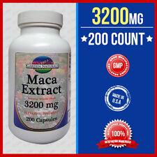 Maca 3200 mg Per Serve Size Sexual Health Energy Herb Saponins 200 Caps Made USA