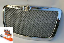 Fits 05-2010 Chrysler 300 Chrome Mesh Bentley Grill Grille w/ Installation Tool