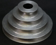 """Aluminium Pulley 4 Step V Pulley Stepped A Groove 2""""/3""""/4""""/5"""" VEE PULLEY"""