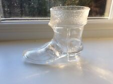 A Scarce Victorian Pressed Clear Glass Boot- Page 45 Item 253 - Shoes Of Glass 2