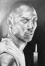 Hand Drawn Pencil Portrait of Kobe Bryant
