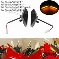 Mirror Block Off Turn Signals Indicator For Ducati Panigale V4 V4S NRC LED race