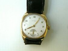 CYMA CLASSIC SOLID GOLD 9K SWISS WATCH, VTG 1950, GENTS, MANUAL WINDING, WORKING