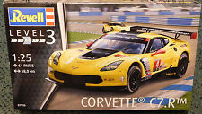 Revell Germany 1/25 Chevy Corvette C7 R 2015 LeMans PLASTIC MODEL KIT 07036