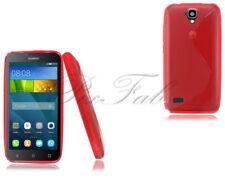 Fundas y carcasas Huawei color principal rojo de silicona/goma para teléfonos móviles y PDAs