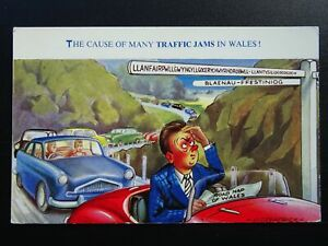 Wales THE CAUSE OF MANY TRAFFIC JAMS IN WALES - Old Comic Postcard by Bamford