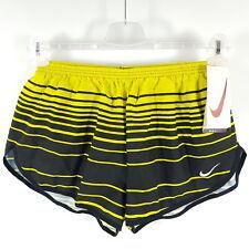 Vintage Nike Shorts Herren XL Gelb Schwarz Gestreift Sprinter Running Kurze Hose