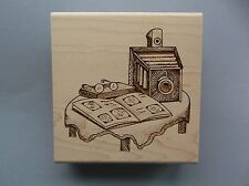 CREATIVE IMAGES RUBBER STAMPS CISTAMPS VINTAGE CAMERA NEW wood STAMP