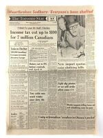Vintage October 21 1977 Toronto Star Front Page Newspaper broken Sudbury K766