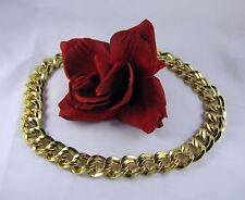 Gorgeous Monet Heavy Gold tone Chain  Necklace  FERAL  CAT RESCUE