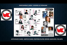 WOMEN OF AVENGERS TRADING CARDS AUTOGRAPH CARDS