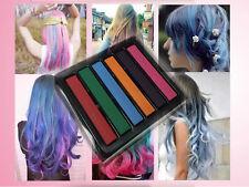 6 colours Hair Temporary Dye Chalk Soft Pastel Styling Set