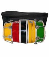 "12"" Handmade Wood Baby Dholak Indian Folk Musical Instrument Drum Nuts N Bolt"