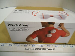 Brookstone White & Red Rocking Rollers Flexible Vibrating Massager - NEW IOB