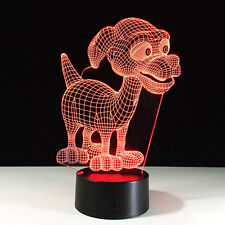 Dog 3D illusion Art Night Light Touch Switch Acrylic Table Desk Lamp