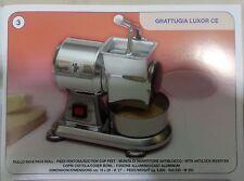 GRATTUGIA ELETTRICA PROFESSIONALE MADE in ITALY LAREM peso 8,80 260 w aluminio