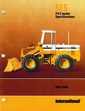 International Vintage 515 Payloader Specifications Brochure