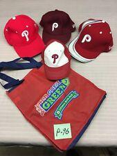 Philadelphia Phillies Baseball Caps (Lot of 4) Kids Assorted Sizes  #P-96