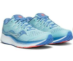 Saucony Women's Ride ISO 2 Wide (D) - Blue/Coral (S10515-1)