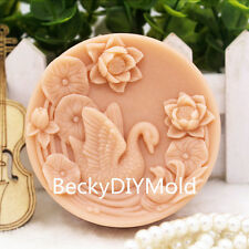 1pcs Parent Child Goose Lotus(zx139)Silicone Handmade Soap Mold Crafts DIY Mould