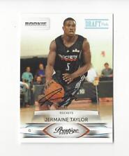 2009-10 Prestige Light Blue #182 Jermaine Taylor Rookie AUTOGRAPH Rockets /699
