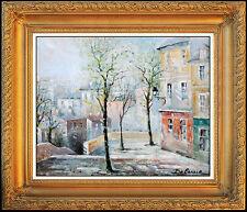 Lucien Delarue Oil Painting On Canvas Original Paris Cityscape Signed Artwork