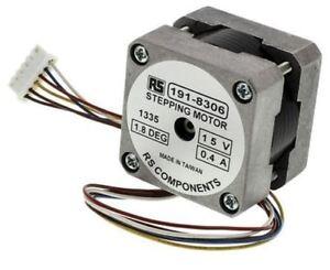 RS Pro Unipolar Hybrid Stepper Motor 1.8°, 98mNm, 12 V dc, 320 mA, 6 Wires