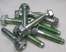 M10 10mm X 1.50 Coarse X 40mm Thread Hex Flange Head Bolt Lot Of 10 Bolts