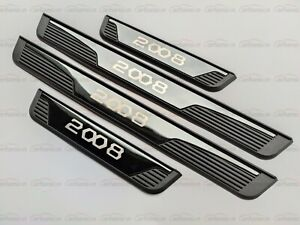 For Peugeot 2008 Accessories Door Sill Protector Scuff Plate Trim Guard Panel 20