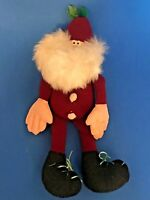 "VINTAGE 1984 HALLMARK SOMEBUDDIES PLUSH SANTA CLAUS ELF 11"" BIG HANDS (b)"