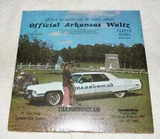 LP : Cletus Jones - Official Arkansas Waltz - SIGNED - plus signed 45 rpm