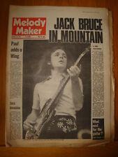 MELODY MAKER 1972 JAN 29 JACK BRUCE MOUNTAIN WINGS TREX