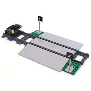 Lego Genuine City Train Railway Level Crossing Track and Buffers from 60198 NEW