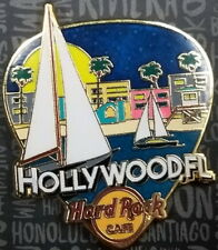"""Hard Rock Cafe HOLLYWOOD FL 2017 """"GREETINGS FROM"""" Series PIN Guitar Pick BEACH"""