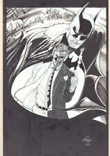 Batman and Two Face Commission - 2013 Signed art by Ethan Van Sciver Comic Art