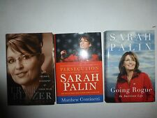 3 Lot Sarah Palin Books,PERSECUTION OF SARAH PALIN,Going Rogue,Trail Blazer HBDJ