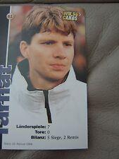 WM 98 Card-s Karte DFB Deutsche Fussball Nationalmannschaft MICHAEL TARNAT 4
