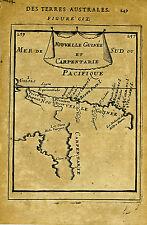 1683 Genuine Antique map Papua New Guinea, Australia, Carpentarie. A M Mallet