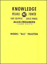 Allis-Chalmers Models B and C Tractor - Service Manual - 1950s - Reprint